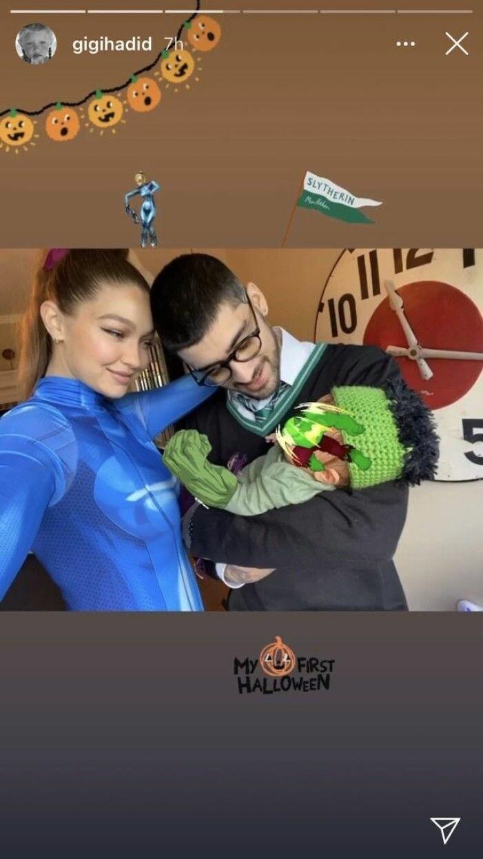 Gigi Hadid familjebild