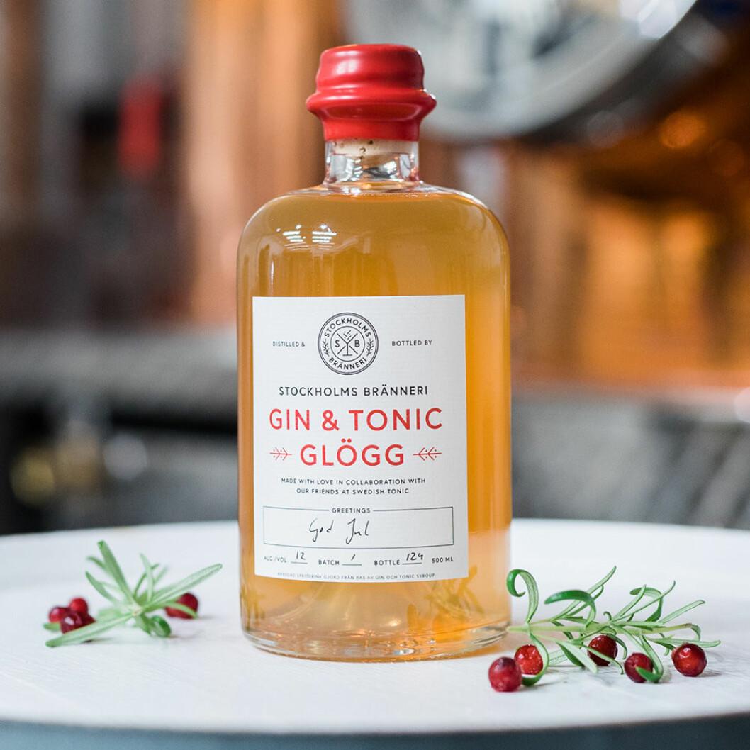 Gin & Tonic-glöggen kostar 150 kronor för 50 cl.