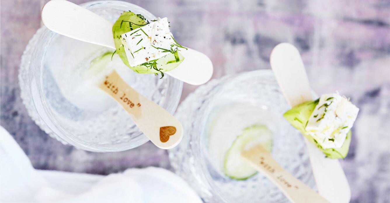 Recept på gin och tonic på pinne