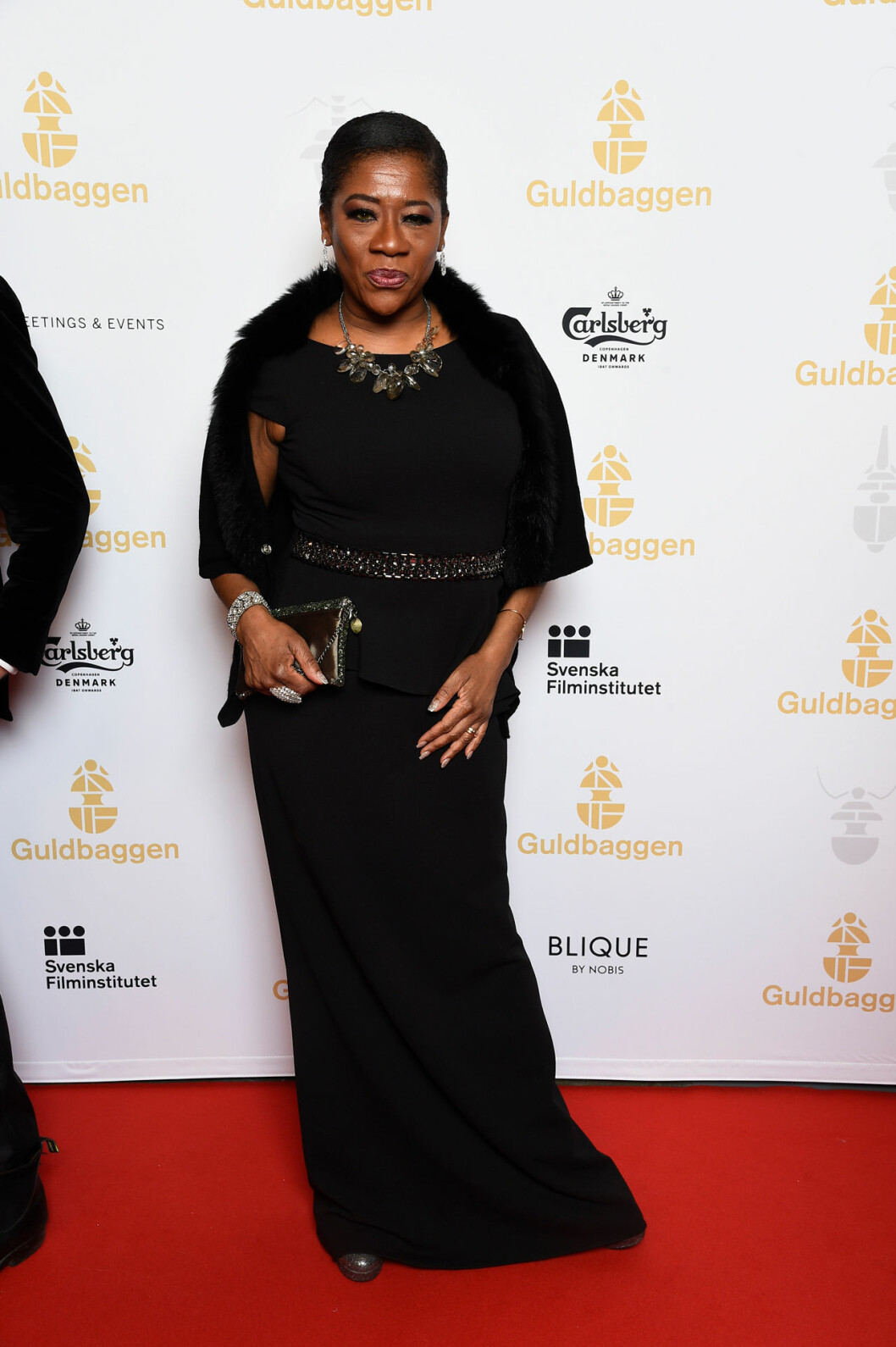 Gladys del Pilar på röda mattan på Guldbaggegalan 2020