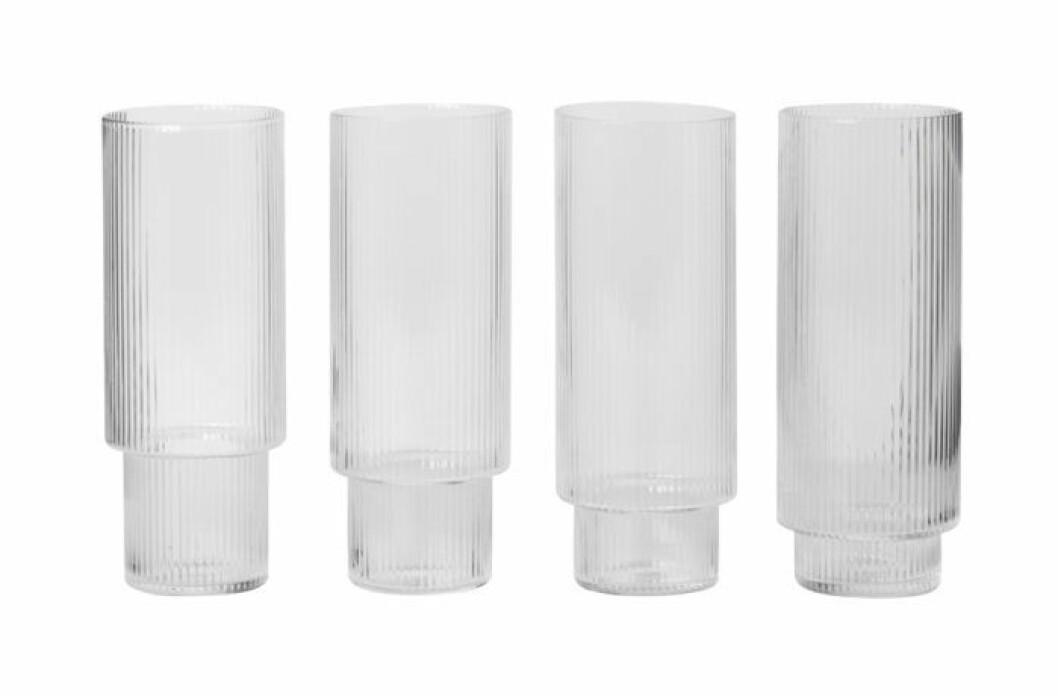 Munblåsta högglas med struktur
