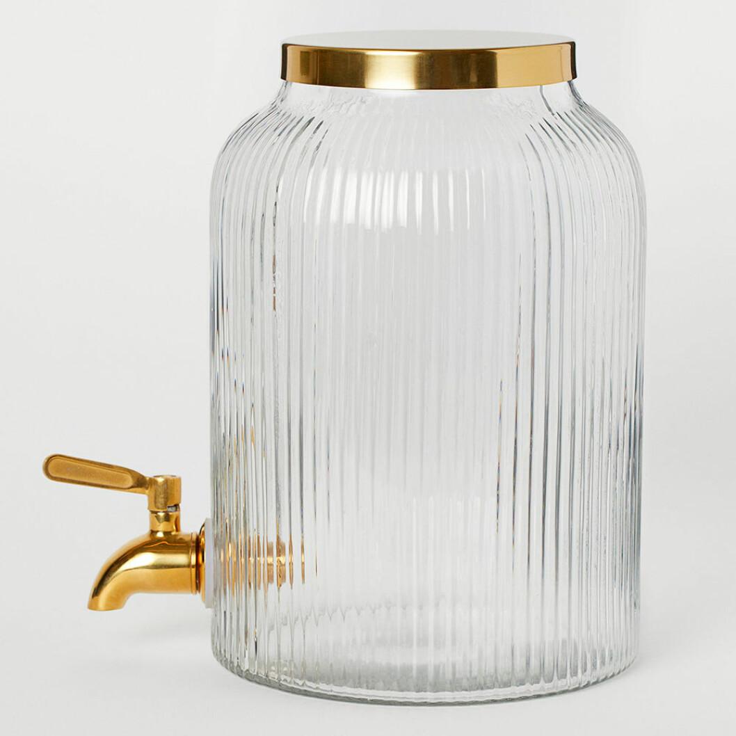 Glasburk med tappkran från H&M Home