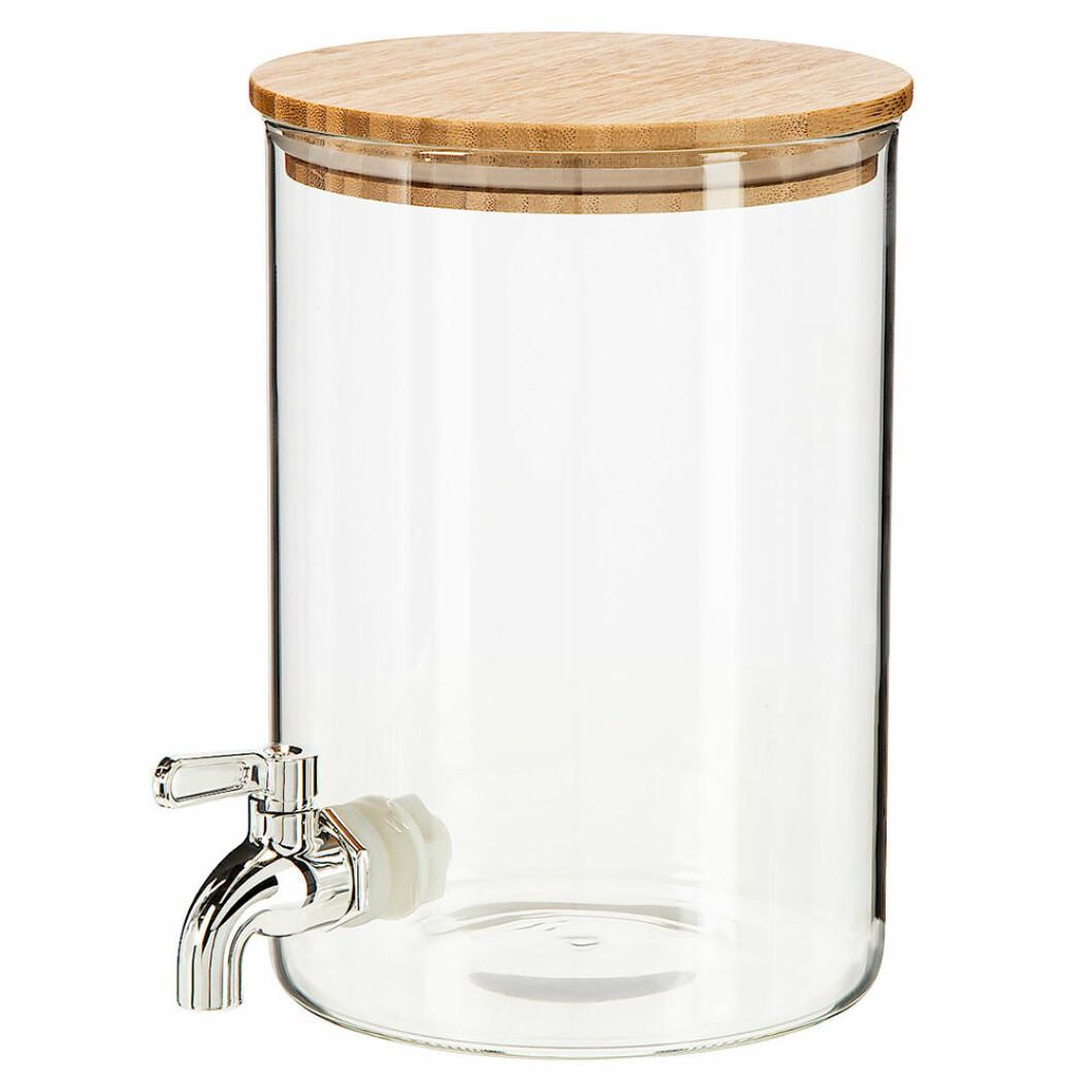 Glasburk med tappkran från Clas Ohlson