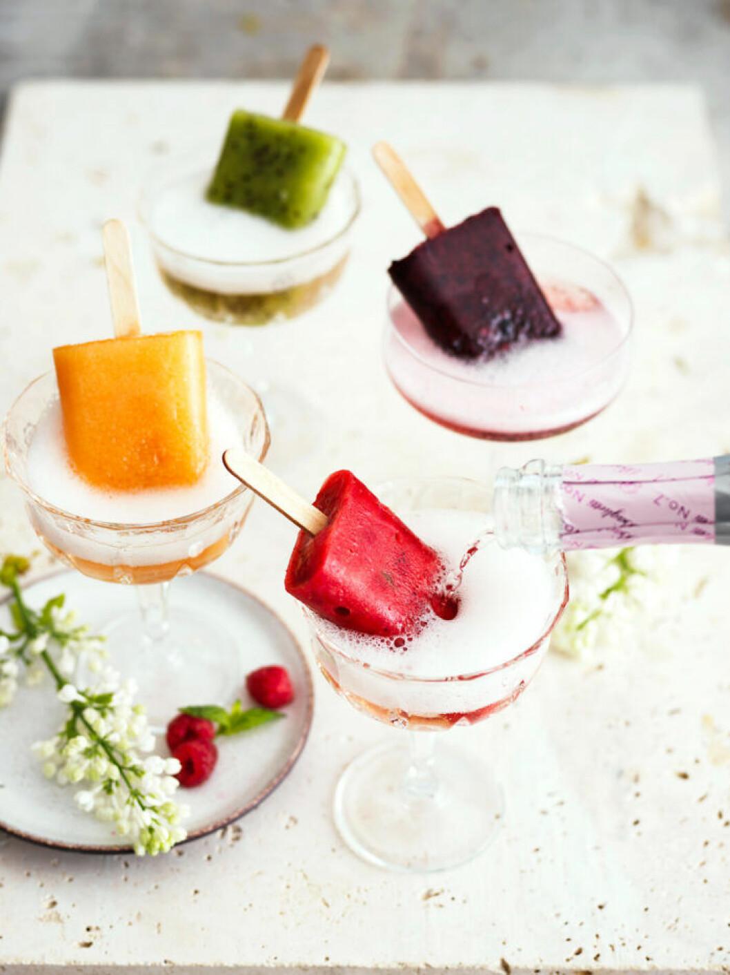 Recept på glassdrinkar med bubbel