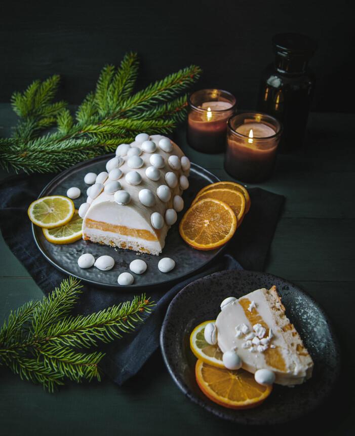 Recept på glasstubbe med citrus och maränger