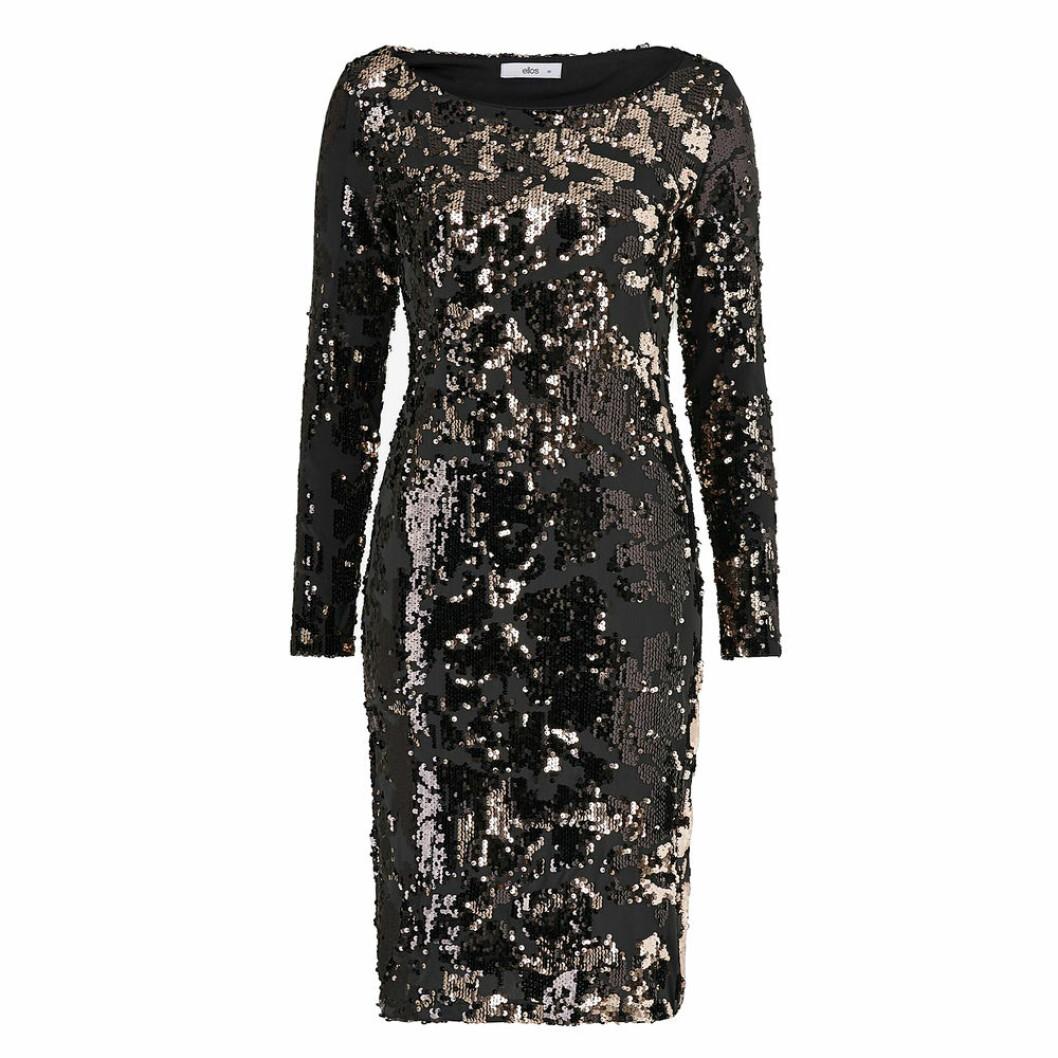 Medellång glitterklänning