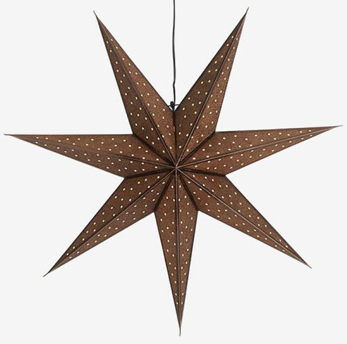 glittrig adventsstjärna från ellos home