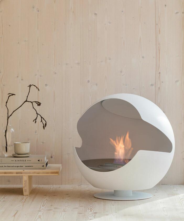 globe eldstad från vauni - skorstensfri