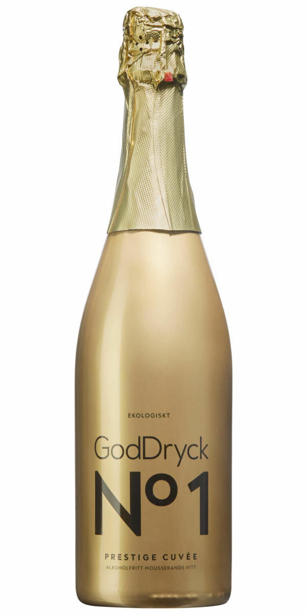 gullig flaska med champagne