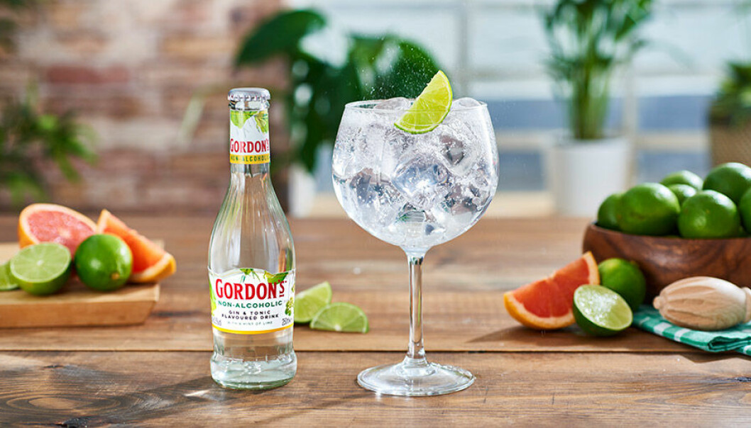 Gordon's lanserar alkoholfri Gin & Tonic .