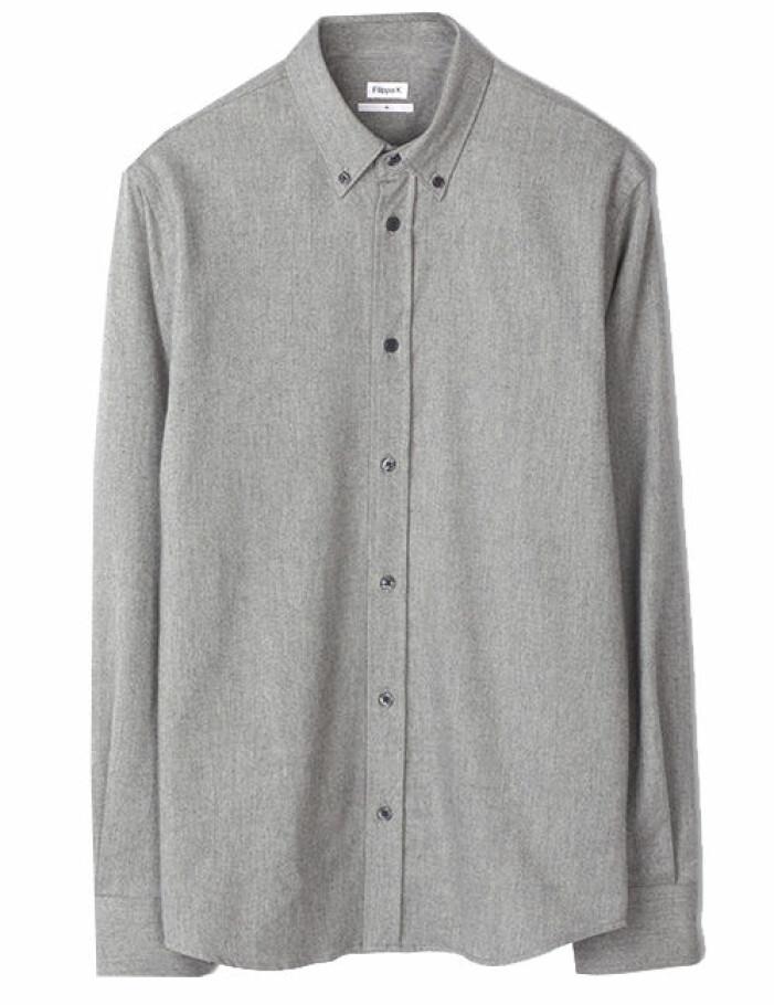 gra-flanellskjorta