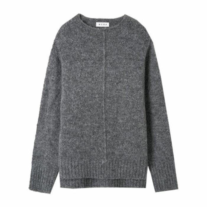 grå stickad tröja