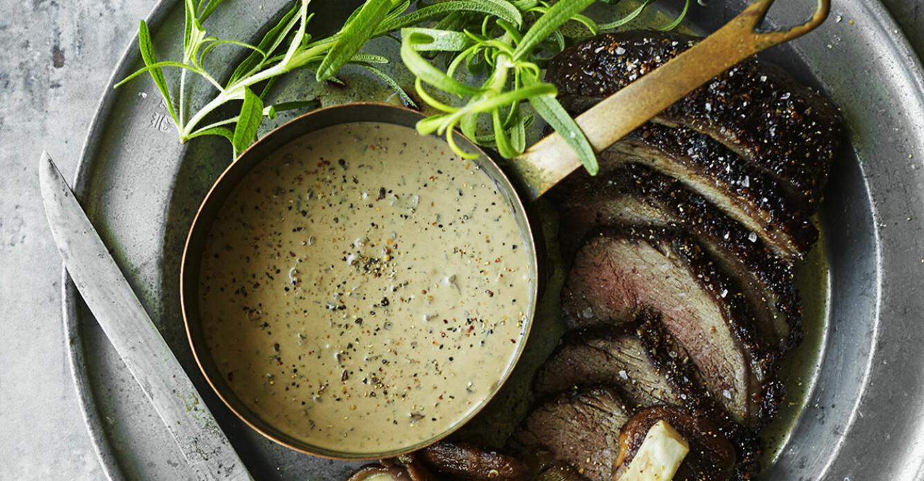 Recept på gräddig svampsås