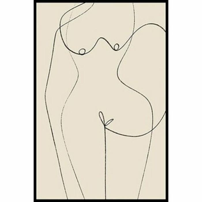 grafisk poster kvinnokropp