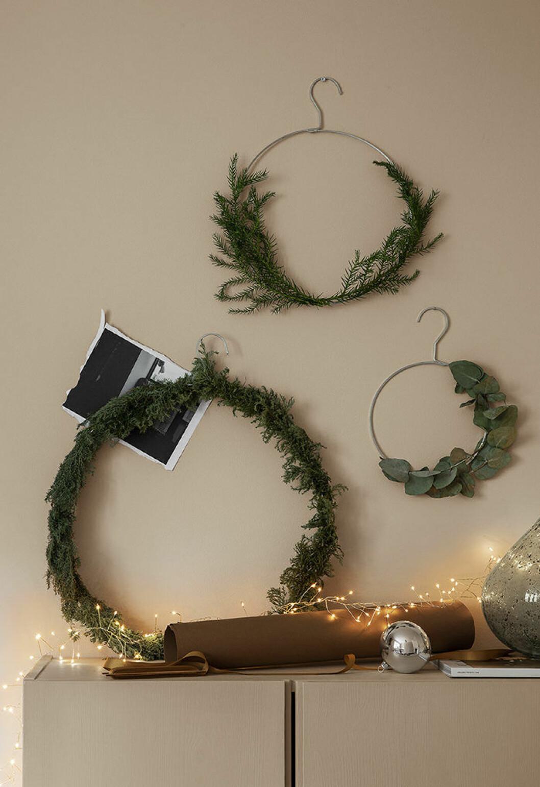 diy minimalistisk julkrans