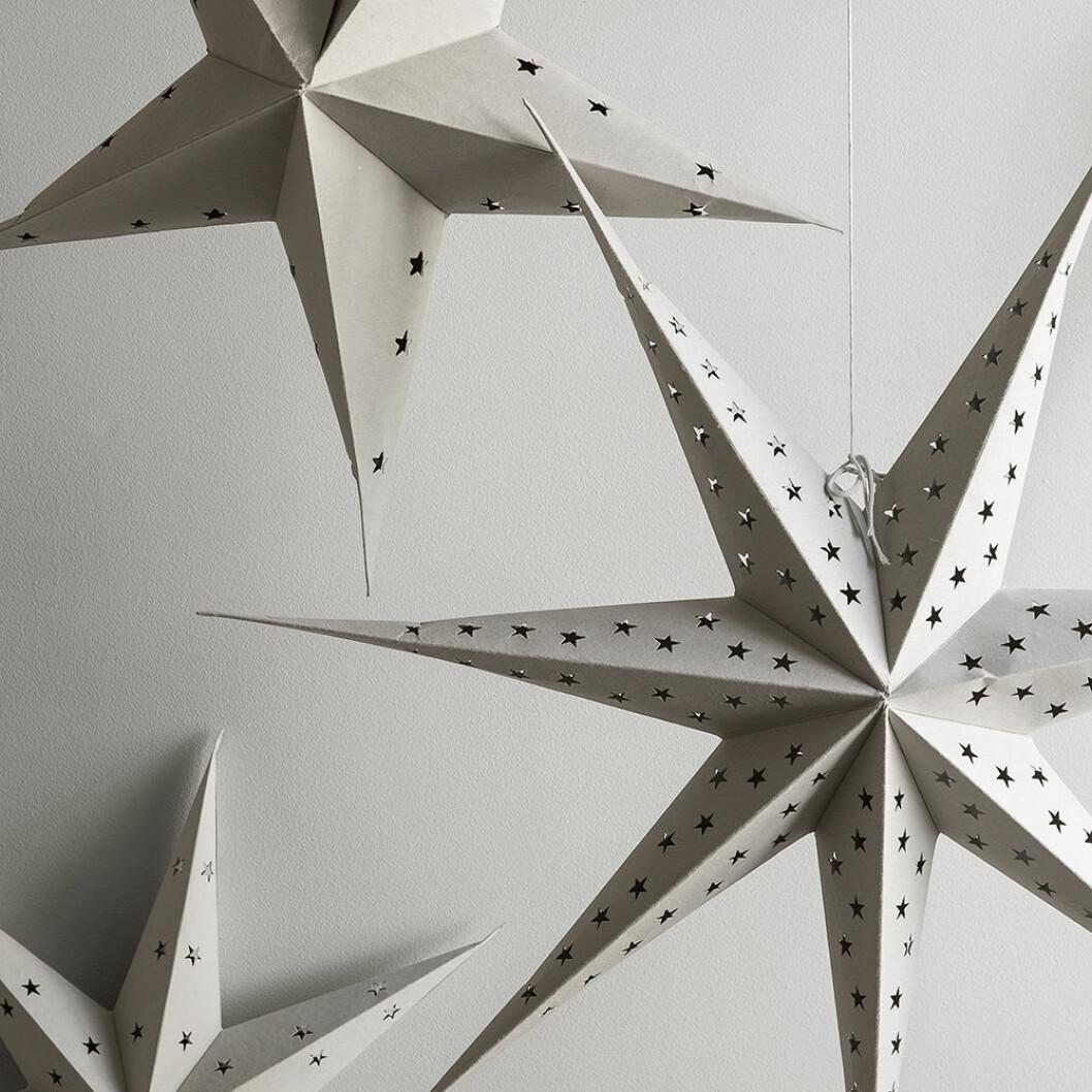Beige adventsstjärnor från Granit