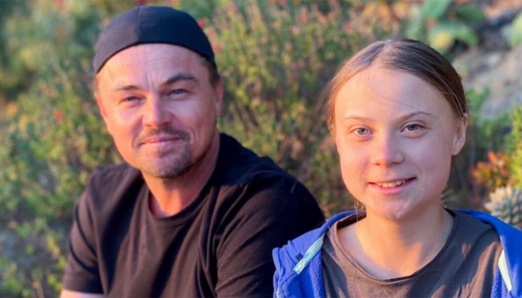 Greta Thunberg och Leonardo DiCaprio