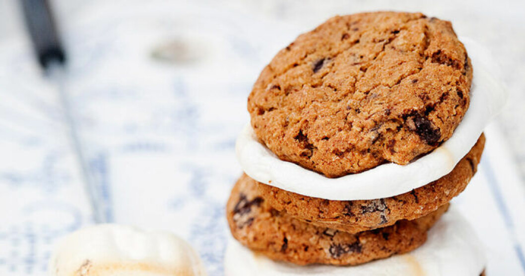Grillade marshmallow cookies.