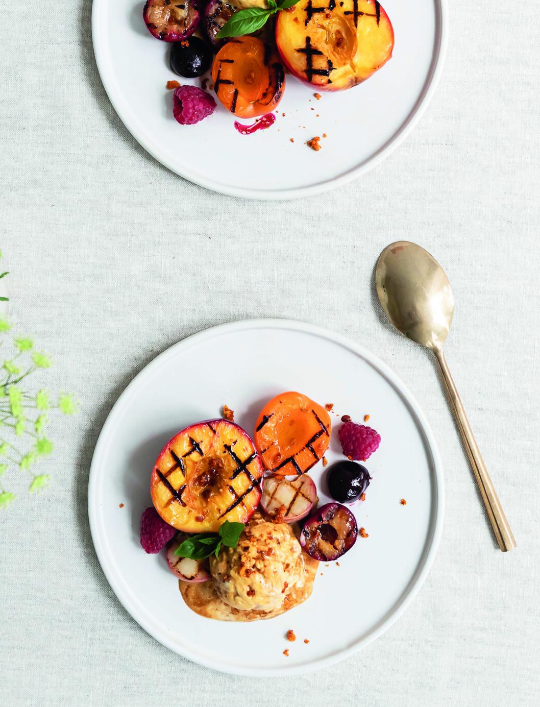 Recept grillad persika