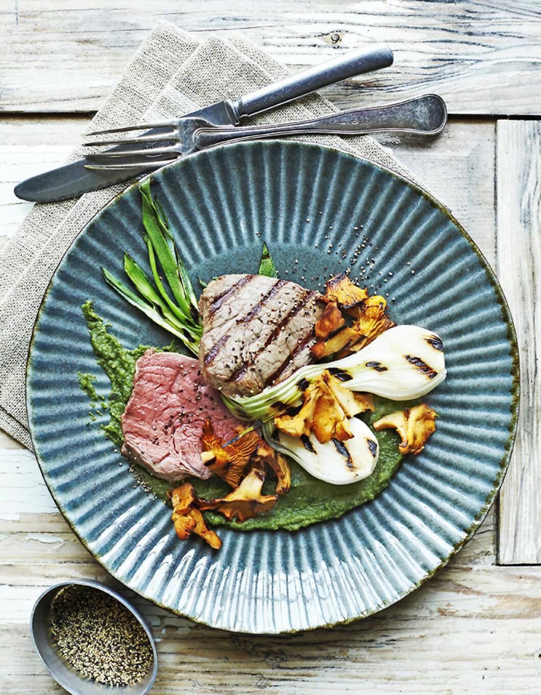 Recept grillat kött.