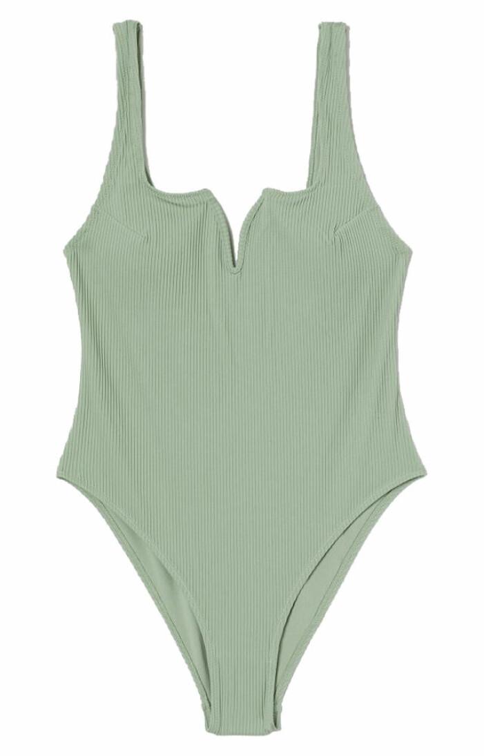 mintgrön baddräkt med högt skurna ben från H&M