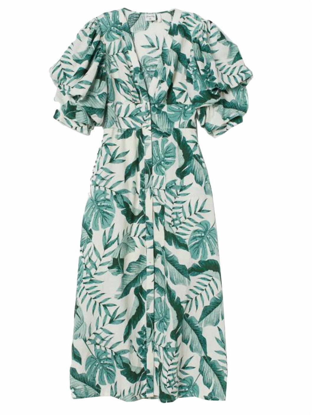 Grön mönstrad klänning från H&M