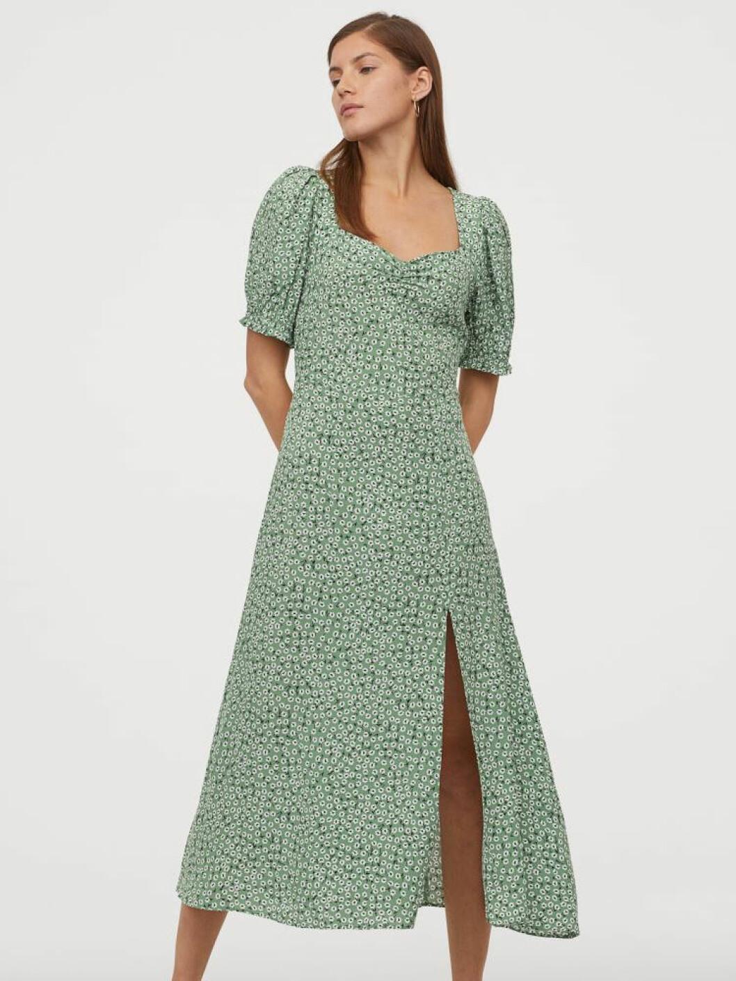 Grön klänning från H&M