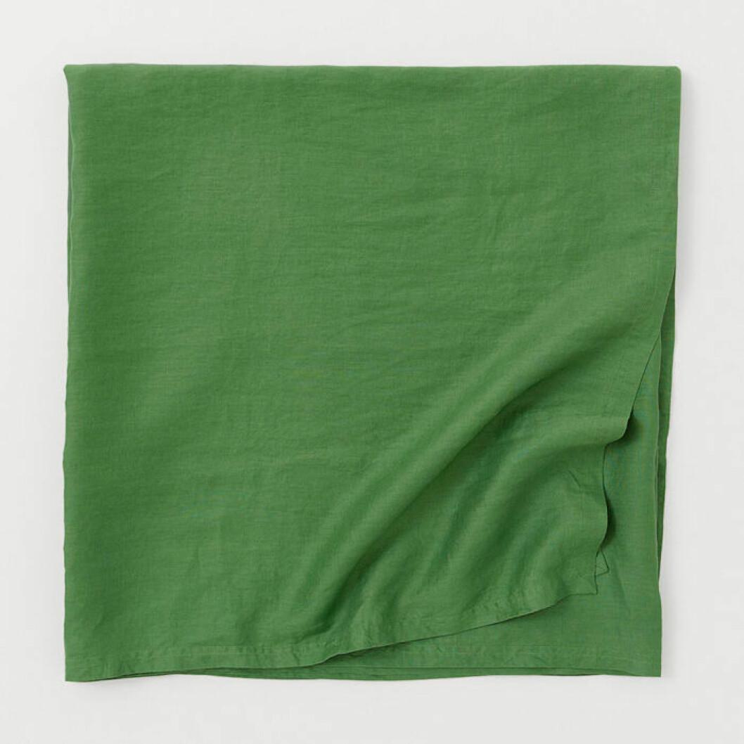 Tvättad linneduk grön från HMHome