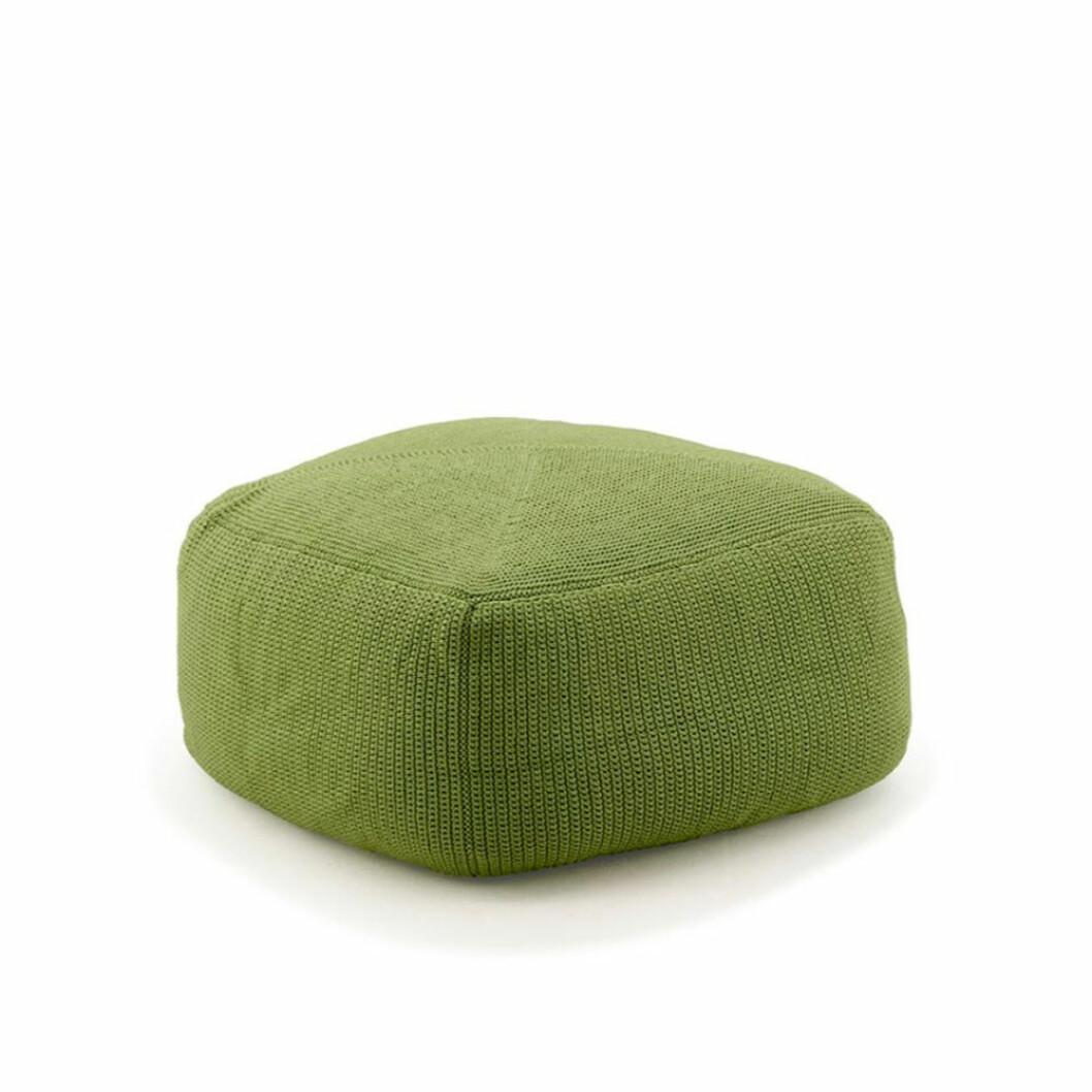 Grön sittpuff från Svenssons i Lammhult