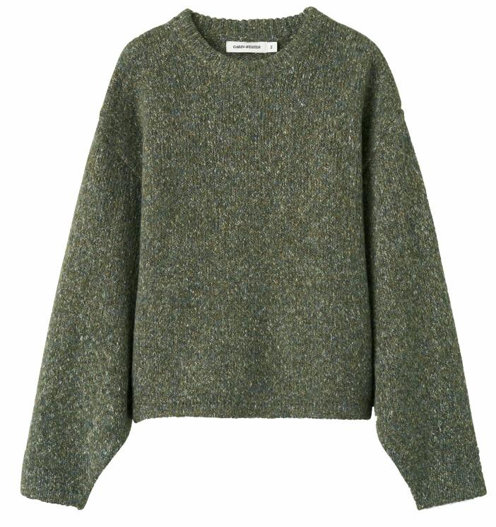 Grön stickad tröja från Carin Wester.