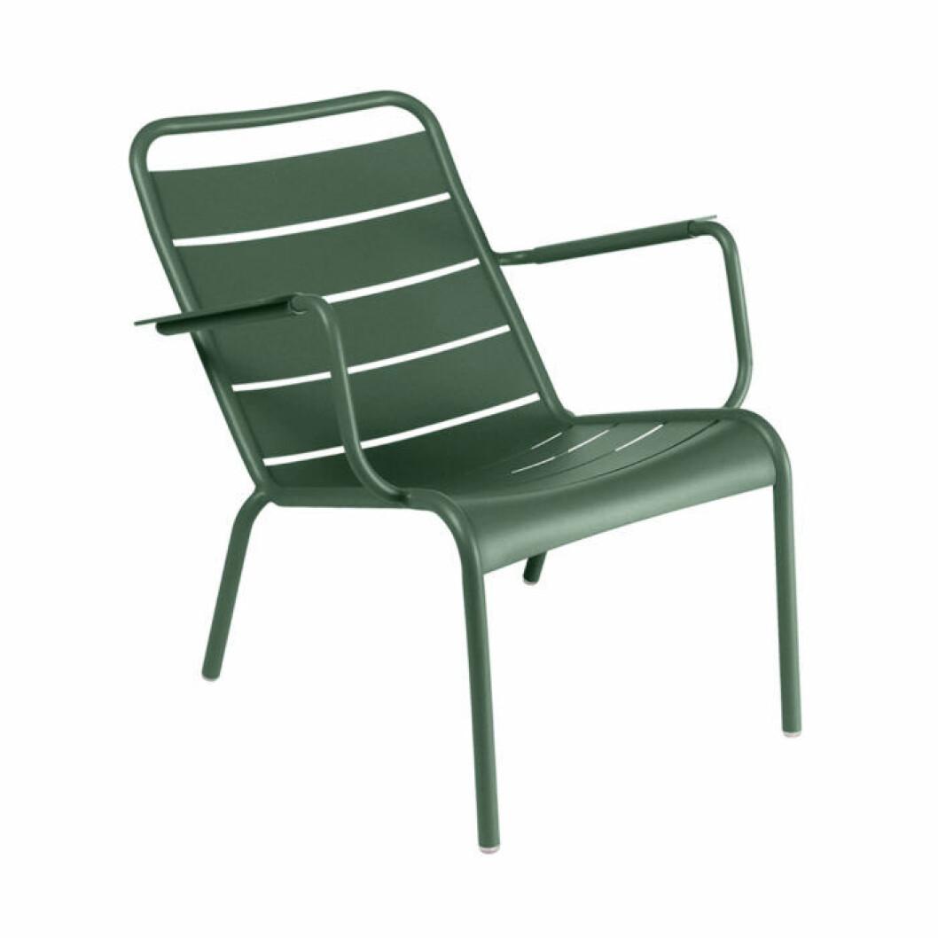 Snygg grön stol till balkongen
