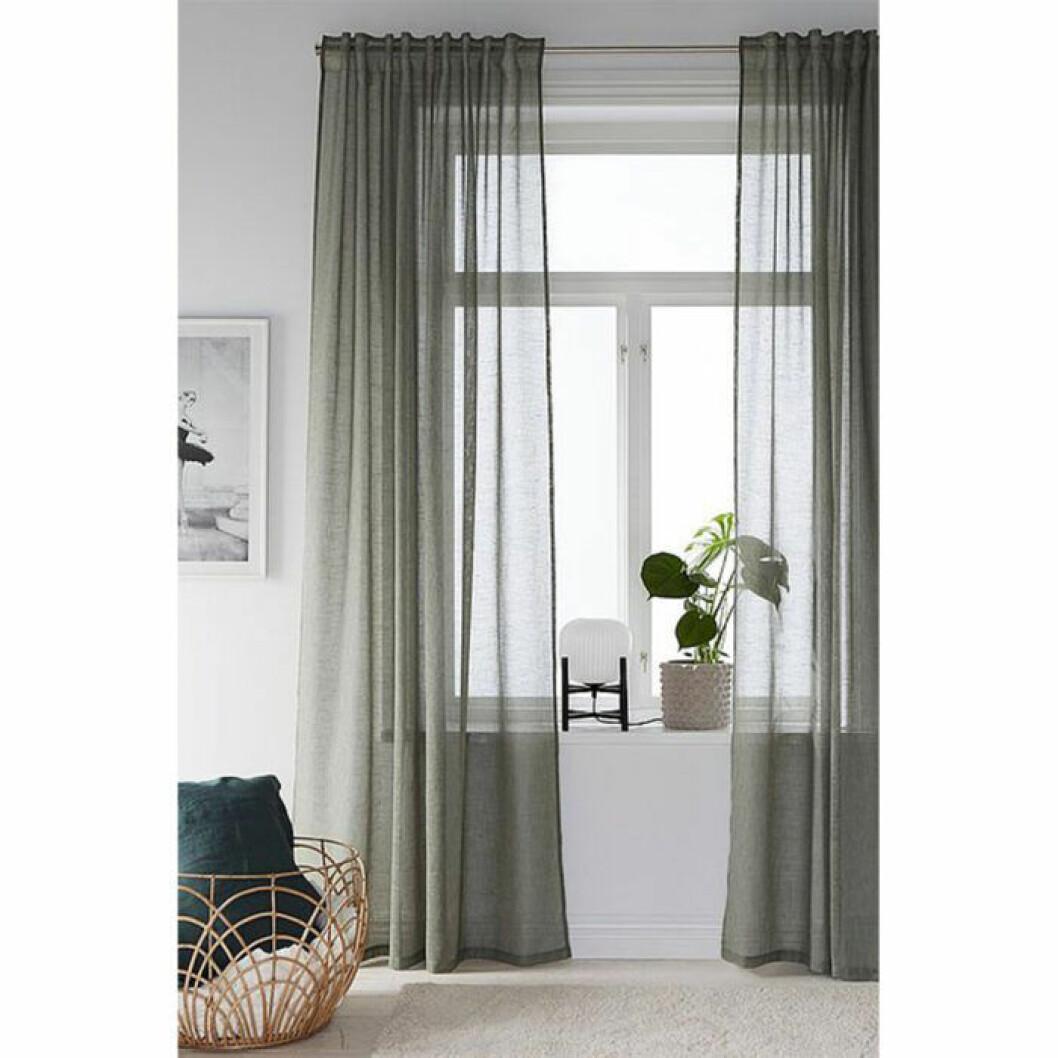 Gröna tunna gardinerfrån Elllos
