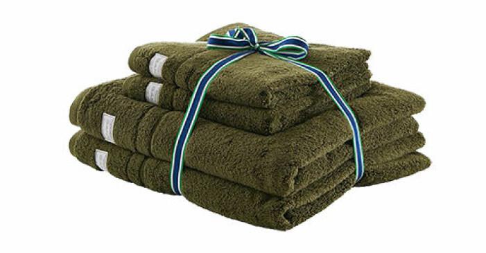 gröna handdukar ekologisk bomull från gant