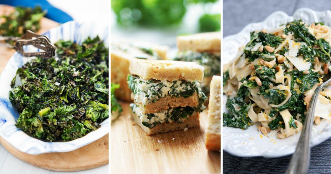 Enkla recept med grönkål.