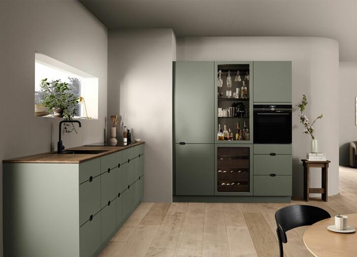 Grönt 60-talsinspirerat kök från Kvik