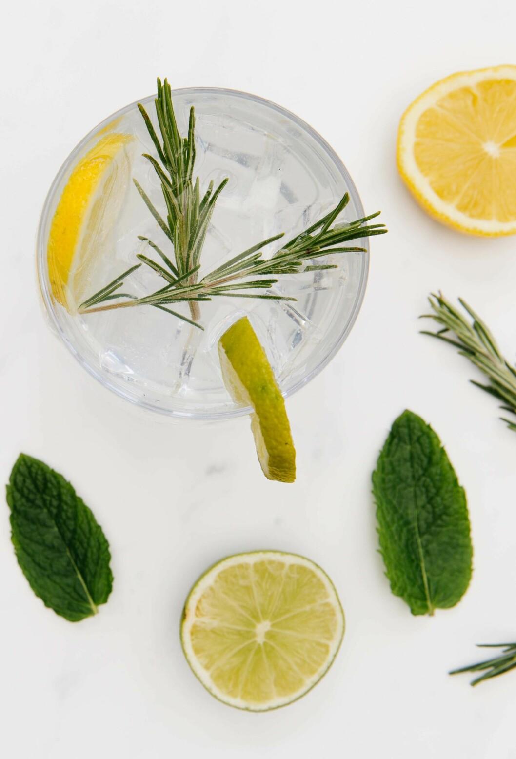 Snaps med smak av gin & tonic