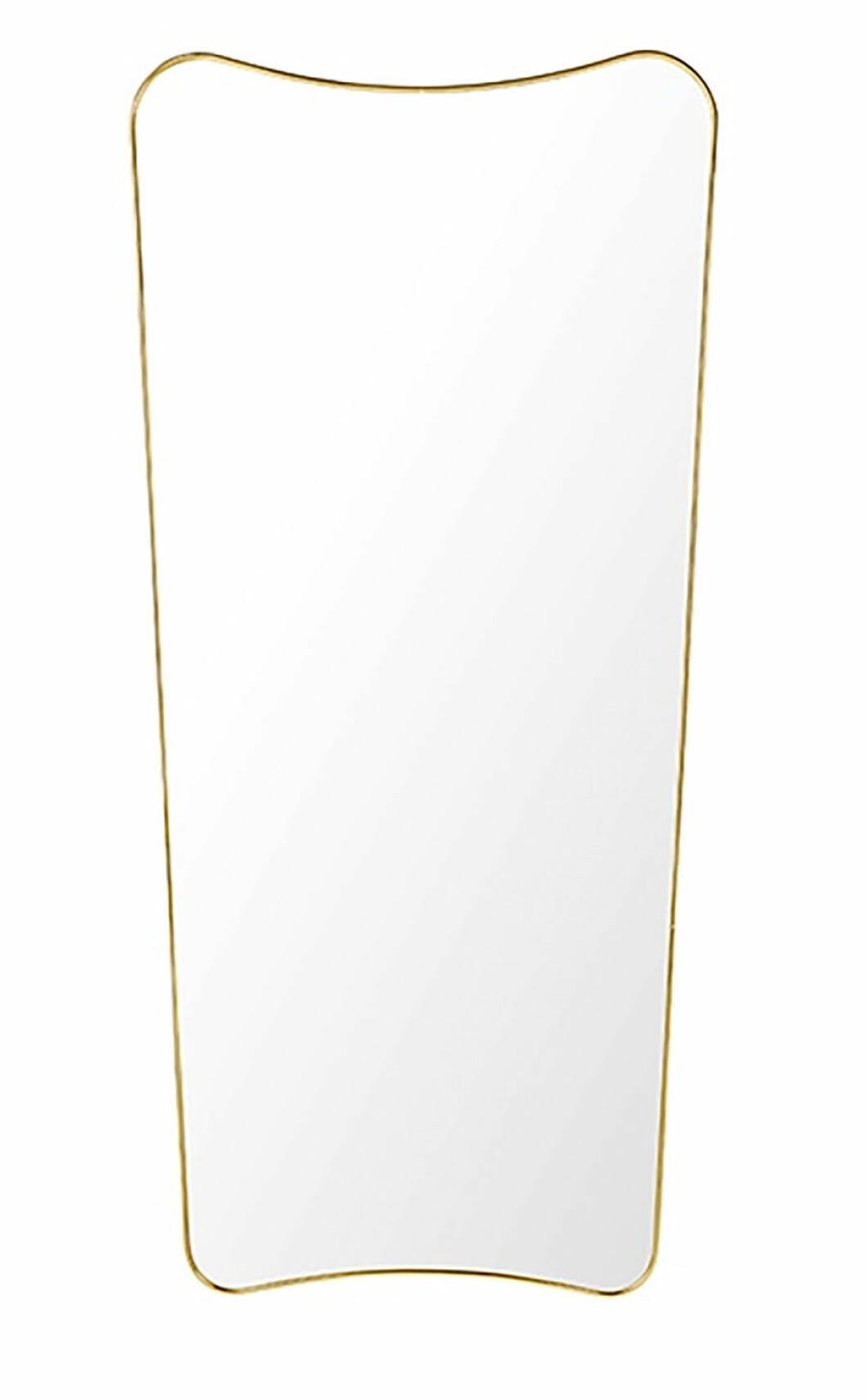 En rektangulär spegel.