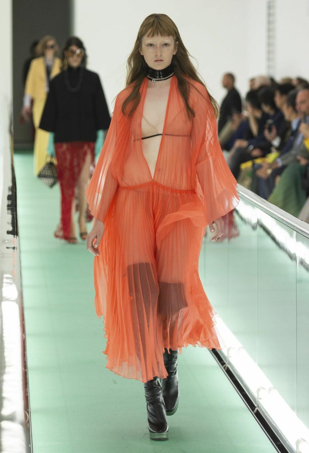 Orange Transparent Gucci klänning