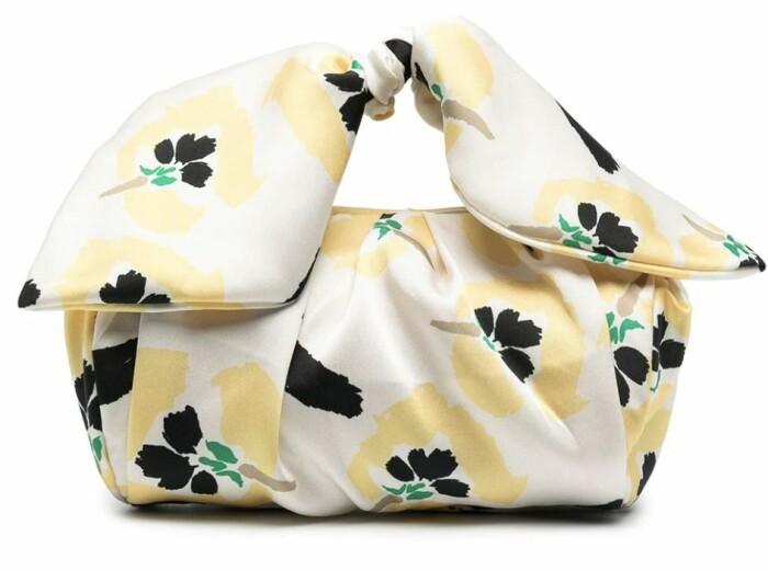 gul blommig väskan från rejina pyo.