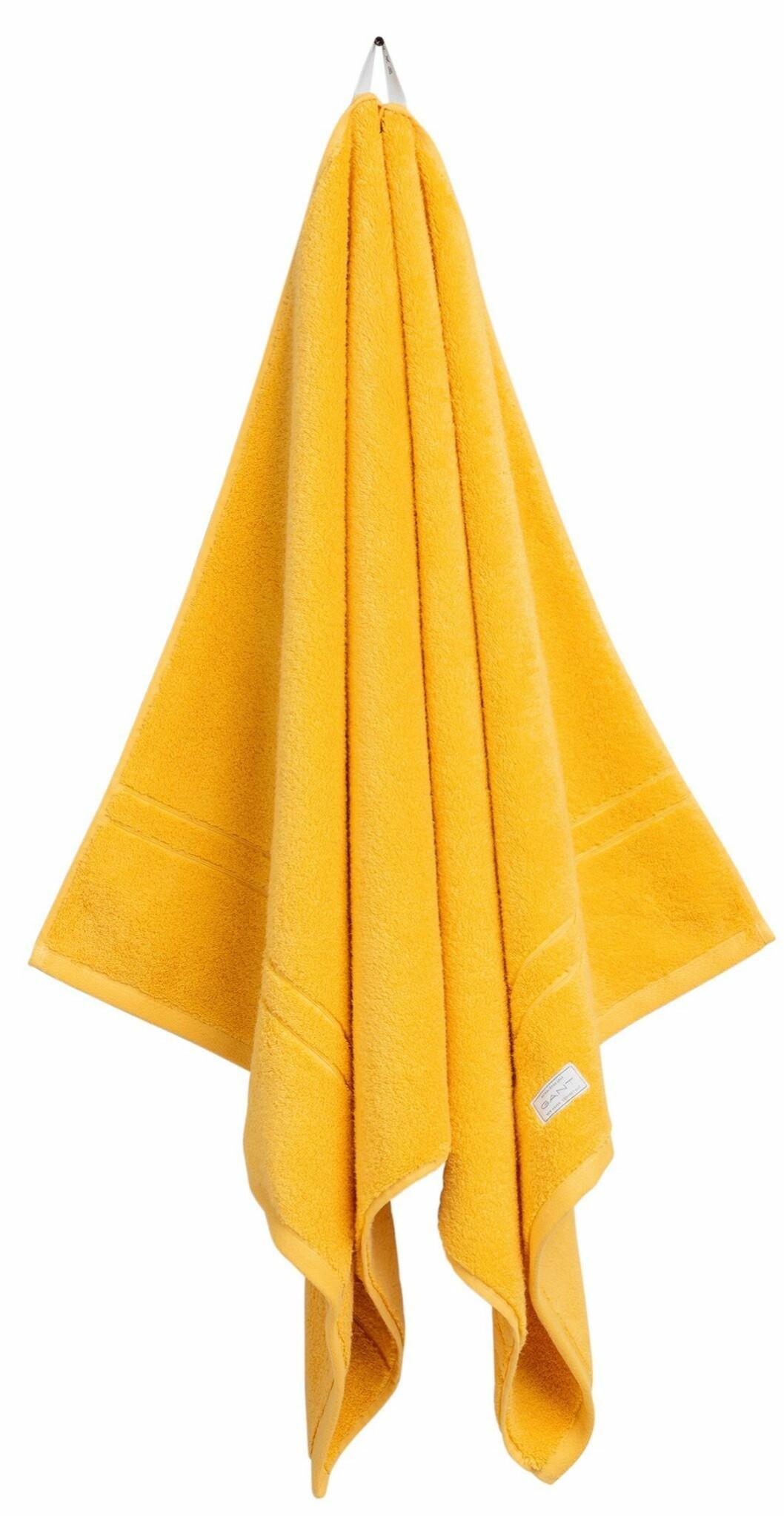 gul handduk i ekologisk bomull från Gant home