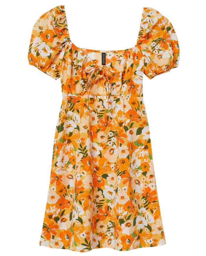 blommig klänning från hm