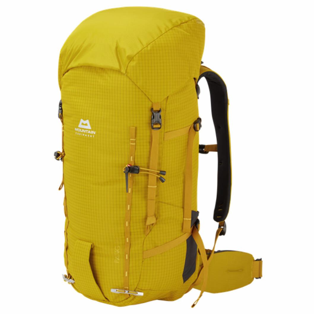 Gul ryggsäck till vandring