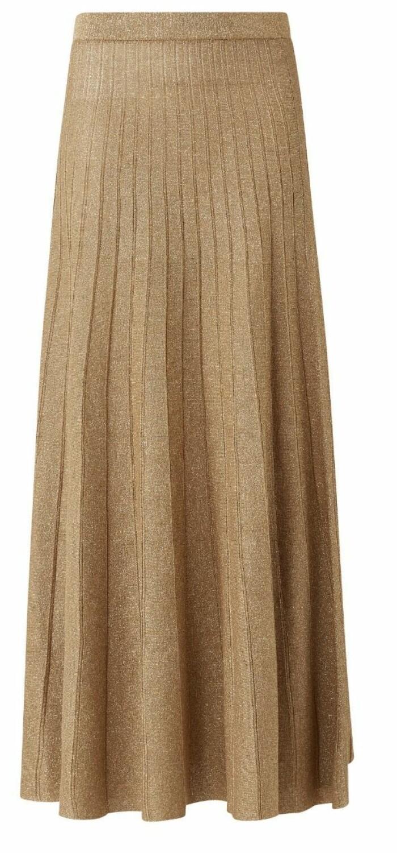 Guldglittrig kjol från Joseph med smickrande plissering. Se kjolen i fler färger eller köp här.