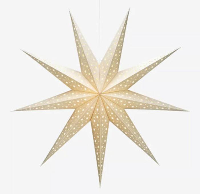guldig adventsstjärna från markslöjd