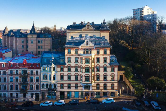 fasaden på Haga Kyrkogata 28.