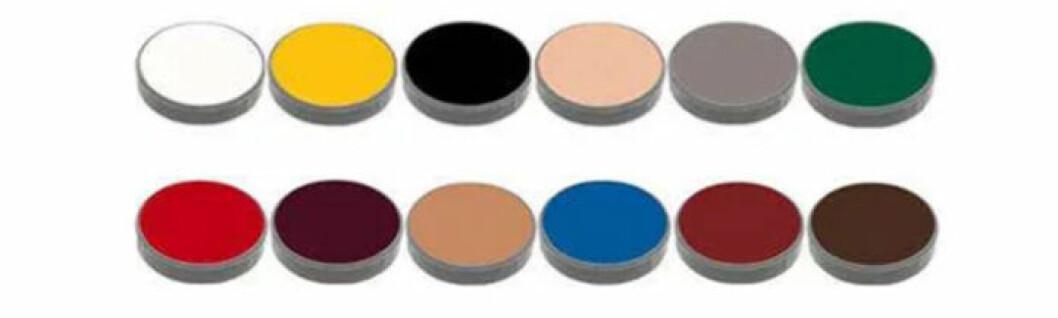 Ansiktsfärg i krämig konsistens i olika färger