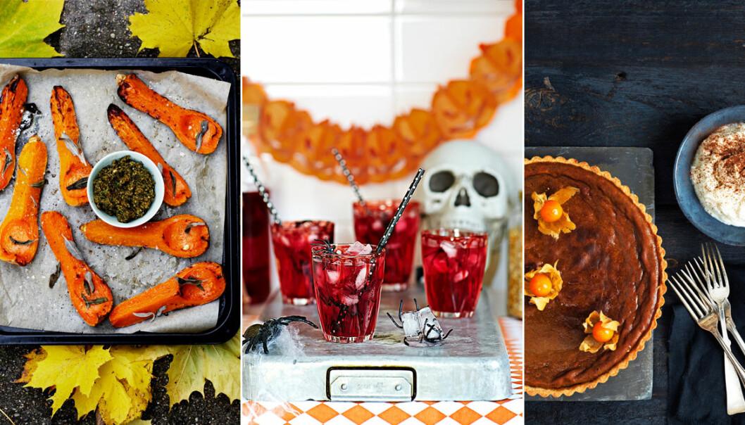 3 recept till Halloween, pumpapaj och ugnsrostad butternut