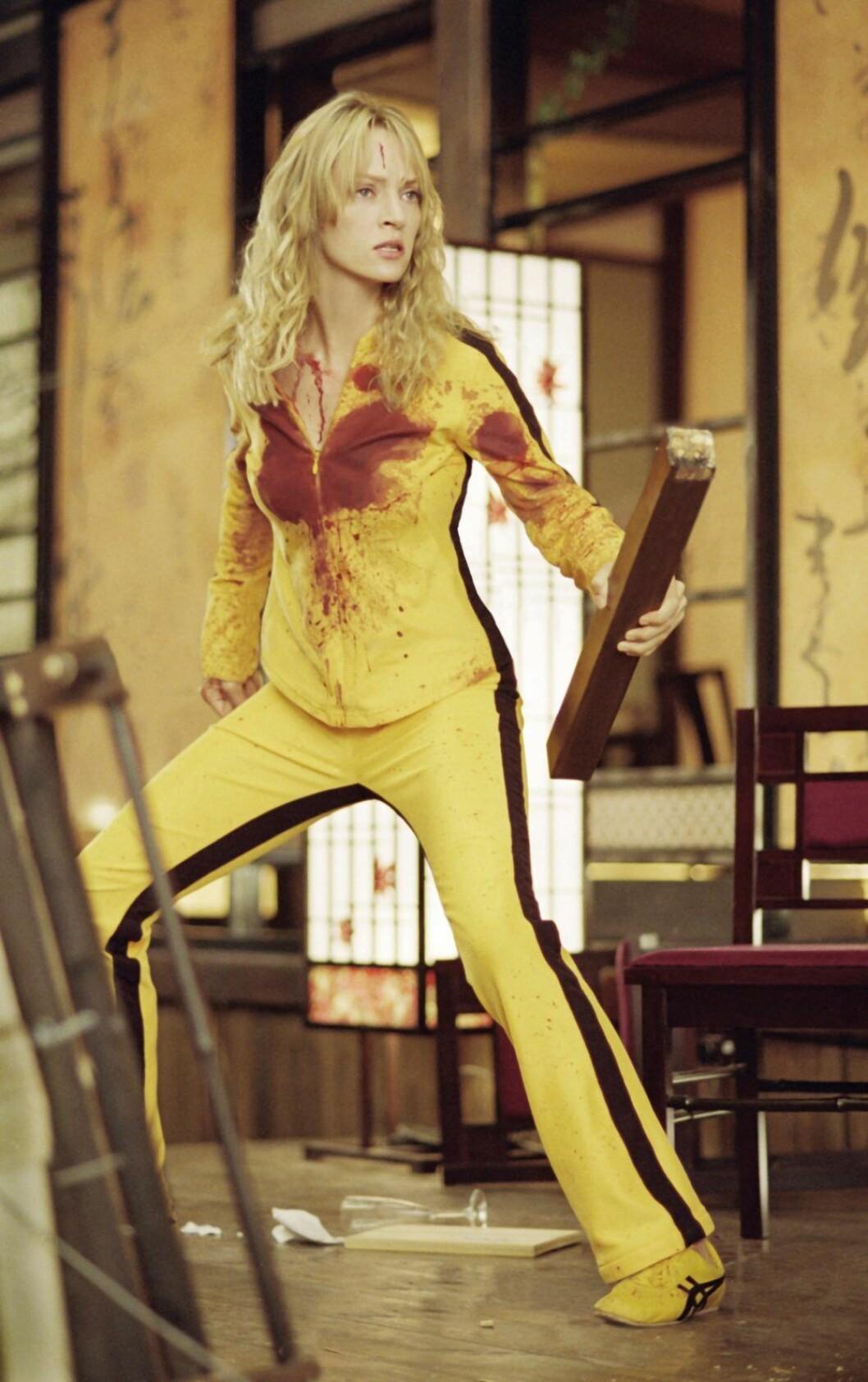 Skådespelerskan Uma Thurman som The Bride i Kill Bill