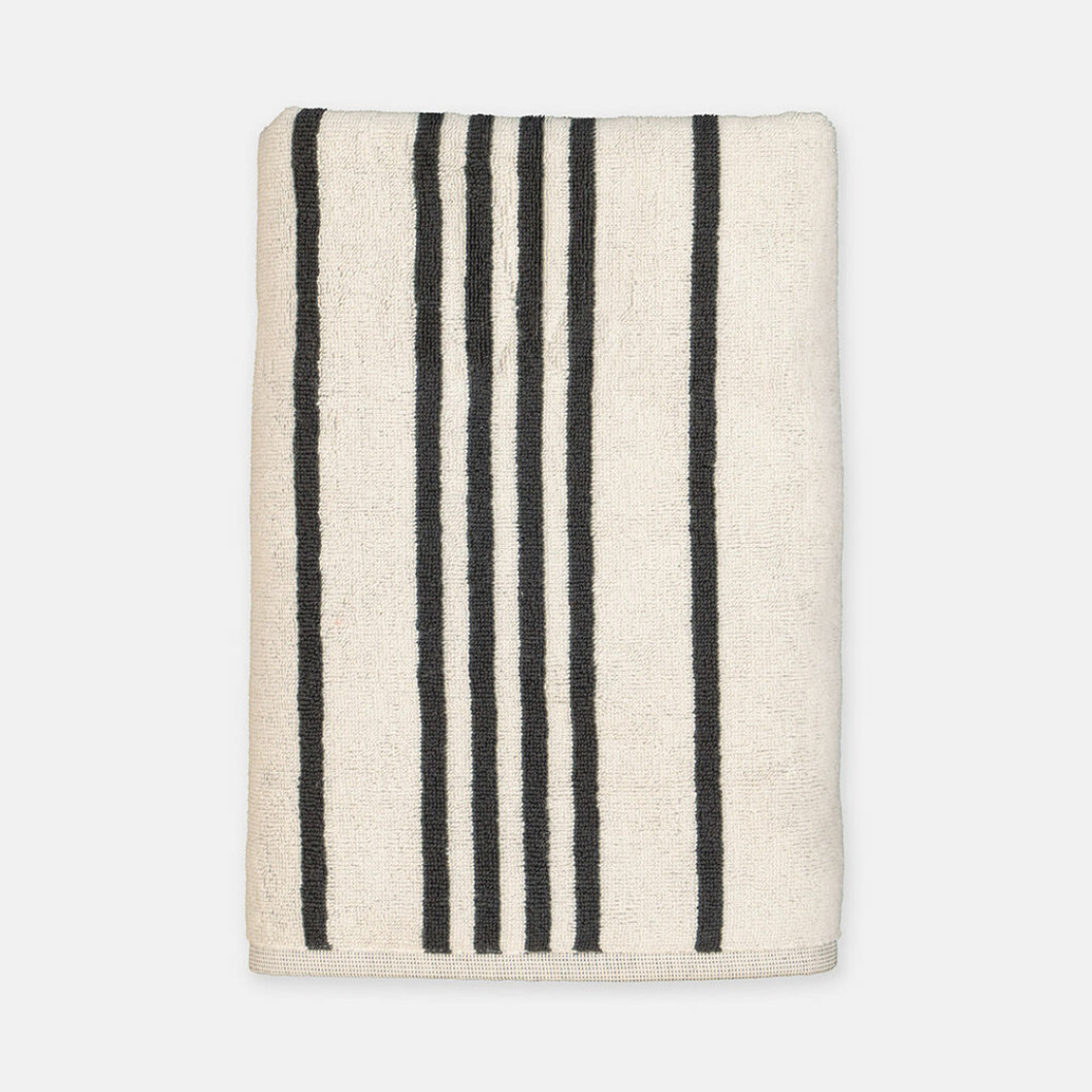 randig handduk i ekologisk bomull