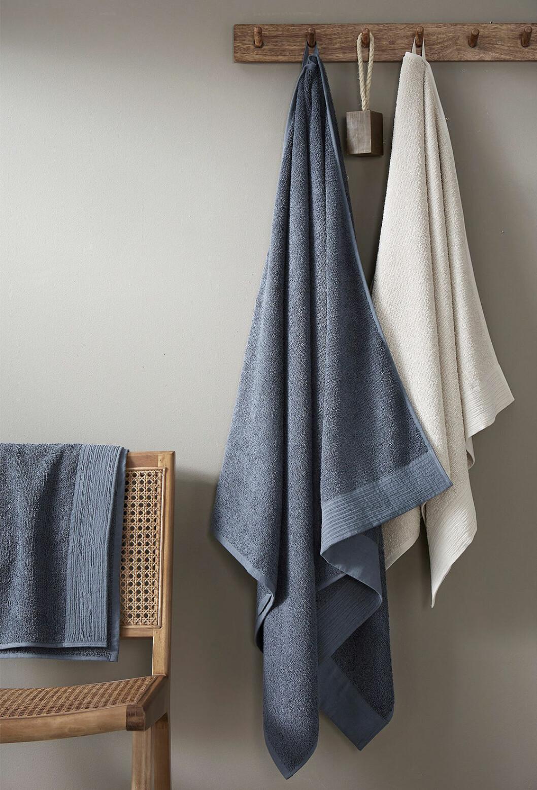 handduk i bomull och lin från Ellos Home